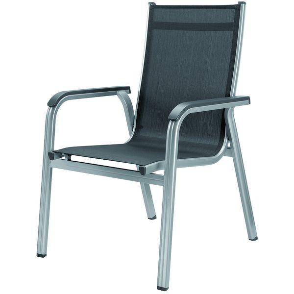 Садовая и дачная Алюминиевая мебель Kettler Кеттлер Кресло Basic Plus Kettler КЕТТЛЕР 301202-0000 серебро/антрацит СпортДоставка