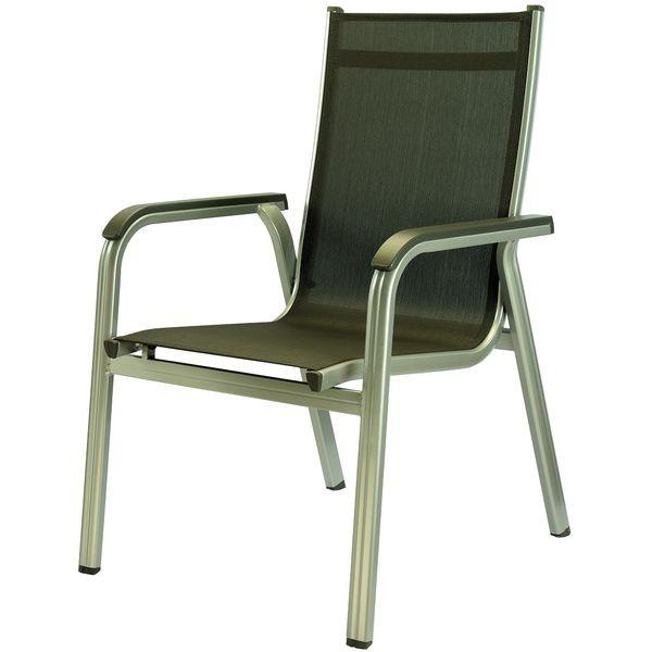 Садовая и дачная Алюминиевая мебель Kettler Кеттлер Кресло Basic Plus Kettler КЕТТЛЕР 301202-1000 шампань/мокка СпортДоставка