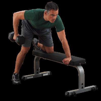 Body Solid свободные веса Профессиональный тренажер    Body Solid Боди Солид GFB-350 Горизонтальная спортивная скамья. СпортДоставка