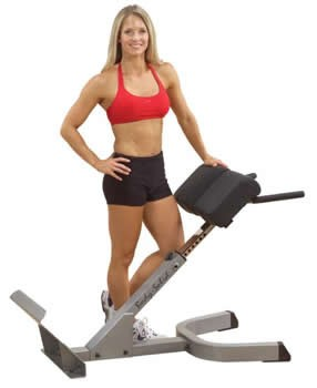 Body Solid свободные веса Профессиональный тренажер    Body Solid Боди Солид GHYP-345 Гиперэкстензия под углом 45 градусов. СпортДоставка