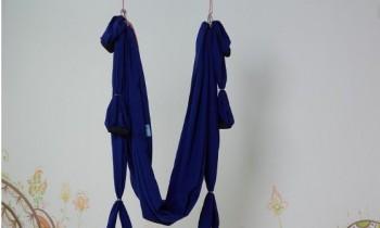 Гамак для йоги синий